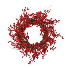 Christmas Wreath - Berry Twig Christmas Wreath Red (50cm)