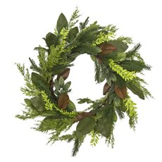 Christmas Wreath - Garden Fresh Look Christmas Wreath Magnolia Pine (60cm)