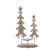 Decorative Christmas Trees - Metal Tree Iceland Table Decoration Champagne Gold (37cmH)