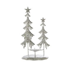 Decorative Christmas Trees - Metal Tree Iceland Table Decoration Silver (37cmH)