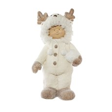 Home Seasonal Decorations - Alex Figurine Decoration Fur Coat White (43.5cmH)