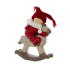 Home Seasonal Decorations - Amy Figurine Decoration Rocking Horse Red (46cmH)