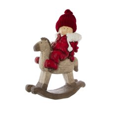 Home Seasonal Decorations - Andy Figurine Decoration Rocking Horse Red (46cmH)