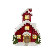 Home Seasonal Decorations - House Decoration with LED & Music Red (34x43cmH)