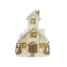 Home Seasonal Decorations - House Decoration with LED & Music White (34x43cmH)