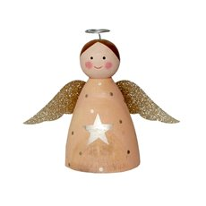 christmas ornaments wooden angel decoration pink 135cm