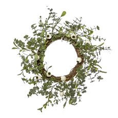 Christmas Wreath - Eucalyptus Gumnuts Wreath Grey (61cmH)