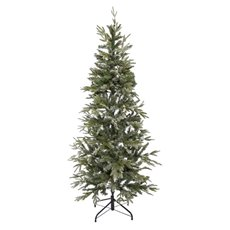 Artificial Christmas Trees - Flocked Snowy Pine Christmas Tree White (180cmH)