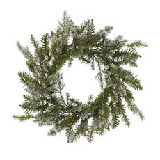 Christmas Wreath - Flocked Snowy Pine Christmas Wreath White (50cm)