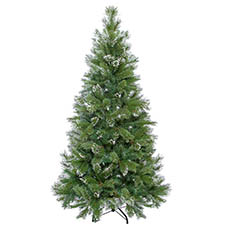 Artificial Christmas Trees - Cashmere Pine Christmas Tree with Snow Tips Green (180cmH)