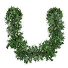 Christmas Garlands - Cashmere Pine Christmas Garland with Snow Tips Green (180cm)