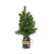 Decorative Christmas Trees - Christmas Pine Tree with Mason Jar Potted (38cmH)