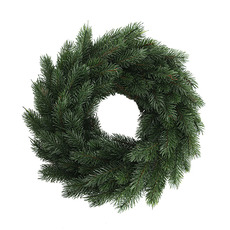 Christmas Wreath - Traditional Pine Christmas Wreath Green (45cm)