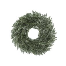 Home Seasonal Decorations - Frosted Pine Christmas Wreath Grey (45cm)