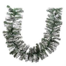 Christmas Garlands - Snowy Pine Christmas Garland White (180cmL)