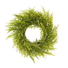 Christmas Wreath - Cypress Pine Christmas Candle Ring Green (30cm)