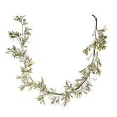 Christmas Garlands - Frosted Mistletoe Christmas Garland White Berry (150cm)