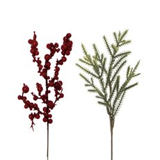 Christmas Flowers - Christmas Picks Berry and Pine Mix Pack of 10 (21cm)
