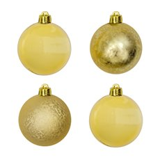 Christmas Baubles - Hanging Christmas Bauble Gold (5cm) Pack 8