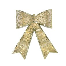 Christmas Wreath - Hanging LED Bow Gold (43x31cm)