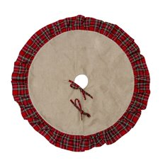 Christmas Tree Decorations - Christmas Tree Skirt Red Gingham (90cmD)