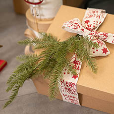 Christmas Flowers - Christmas Pine Spray Real Touch Green (52cmH)