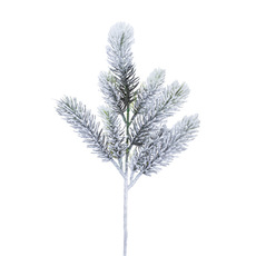 Christmas Flowers - Snowy Canadian Pine Spray Real Touch White (36cmH)