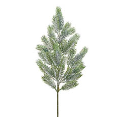 Christmas Flowers - Frosted Canadian Pine Spray Real Touch Grey (65cmH)