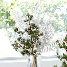 Christmas Flowers - Cedar Pine Spray Real Touch Green (60cmH)