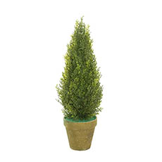 Tabletop Christmas Trees - Cypress Pine in Terracotta Pot Real Touch Green (45cmH)