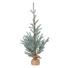Artificial Christmas Trees - Aspen Blue Pine Burlap Wrapped Real Touch Blue (90cmH)