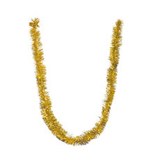 Christmas Tree Decorations - Tinsel Metallic Gold Pack 2 (9cmWx200cmL)