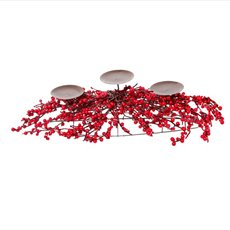 Lush Mini Berry Candle Arrangement Red (55cm)
