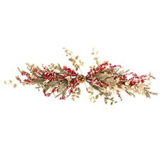 Gold Leaf Berry Swag Red (60cm)