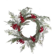 Winter Snow Berry Wreath Red (55cmD)