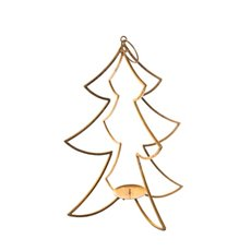 Metal Tree Candle Decoration Gold (24x43.5cmH)