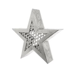 Large Metal Star Decoration Silver (36.5x36.5cmH)