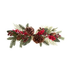 Pomegranate Berry Pine Cone Swag Red (60cm)