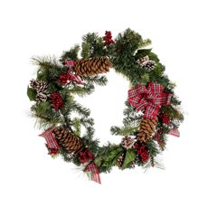 Pine Tartan Wreath Red (45cm)