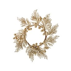 Fern Berry Wreath Gold (45cm)