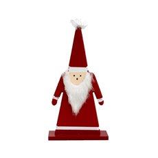 Wooden Santa Decoration Red (14x5x28cmH)