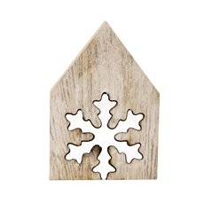 Wooden Ornament Cut-Out Snowflake White (22.5x22cmH)
