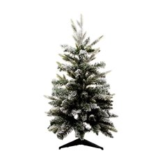 Lush Needle Pine Snow Christmas Tree White (90cmH)