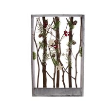 Natural Berry Frame Decoration (27x43cmH)