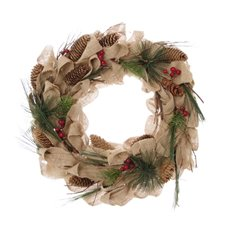 Natural Burlap Wreath Brown (34cm)