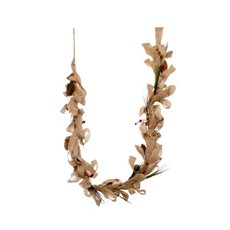 Natural Burlap Garland Brown (160cm)
