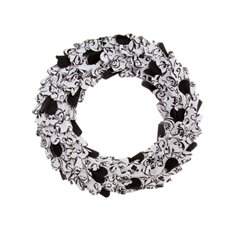Filigree Paper Wreath White and Black (40cm)