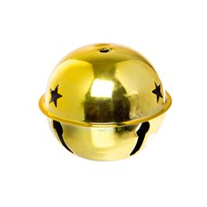Metal Jingle Bell Gold (12cmD)
