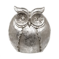 Crafted Owl Ornament Silver (15x8x18cmH)
