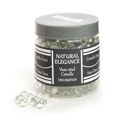 Glass Marbles - Glass Marbles (14mm) Clear Lustre 1.2KG Jar